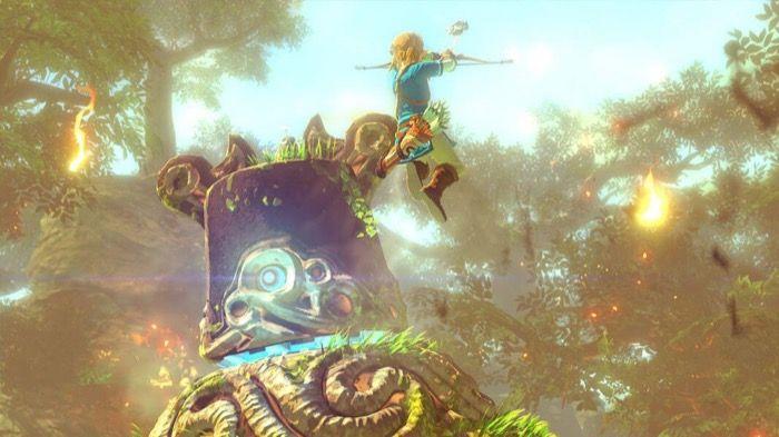 Jugando al Zelda of the Wild