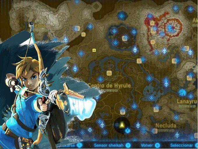 Mapa de Zelda: Breath of the Wild