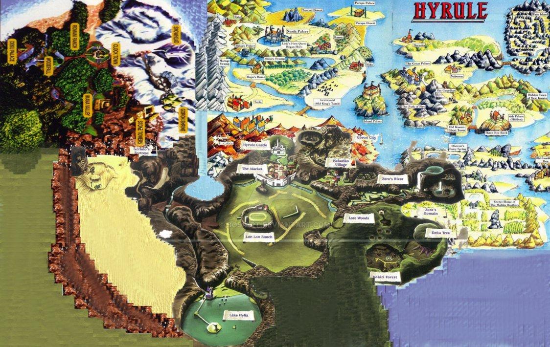 Mapa de Zelda: Mejora's Mask