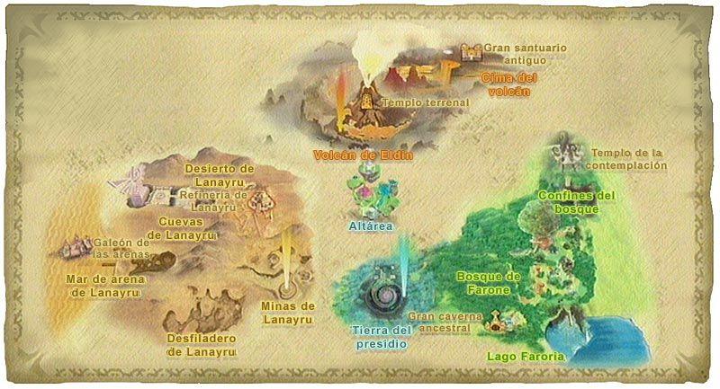 Mapa de Zelda: Skyward Sword