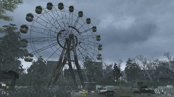 Misión en Chernobyl de Call of duty