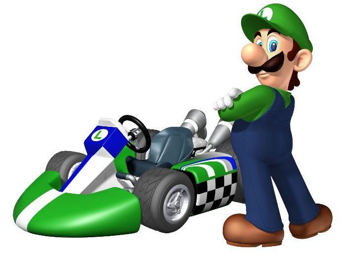 Luigi en Mario Kart
