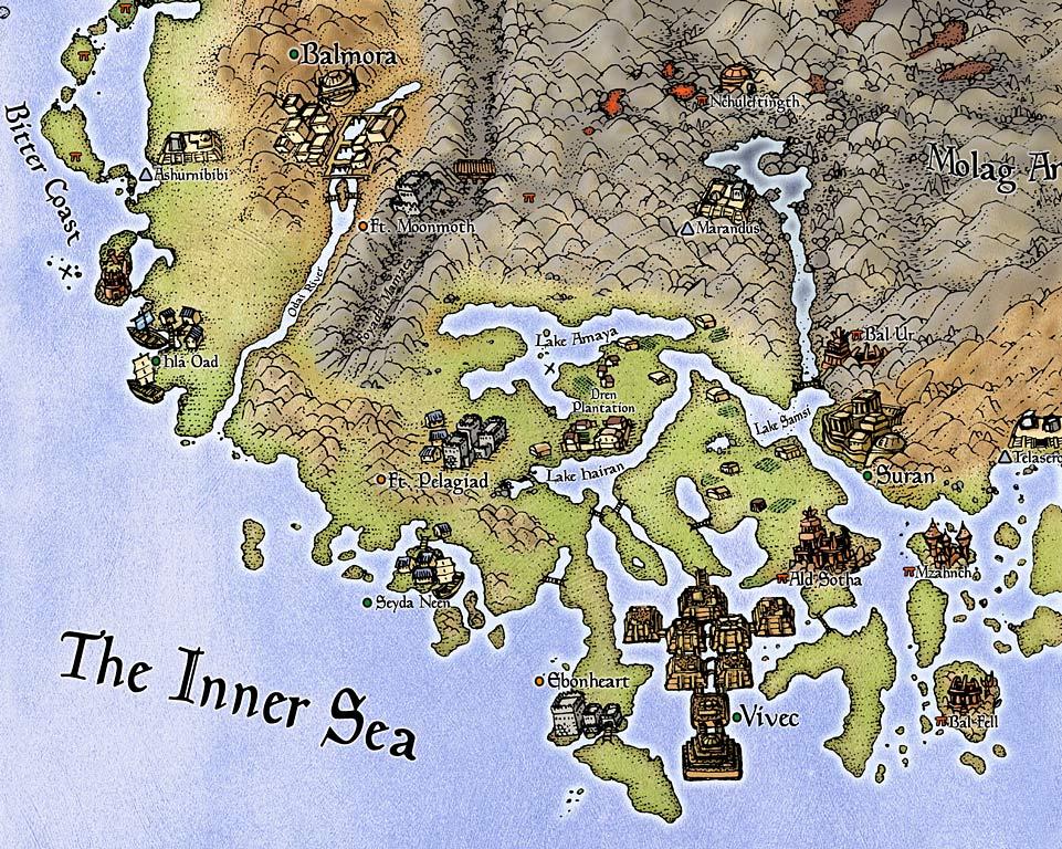 Morrowind mapa