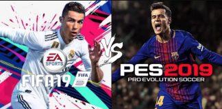 Comparativa FIFA 19 vs PES 2019