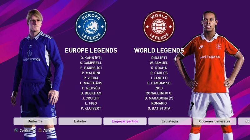 Las leyendas de PES 2020