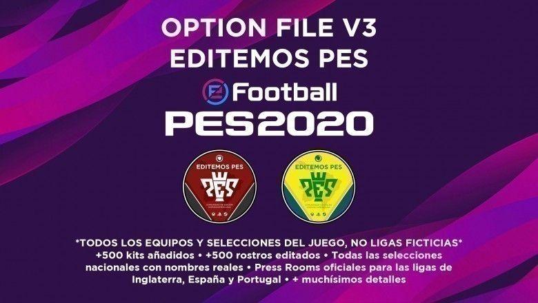 Option File Editemos PES 2020
