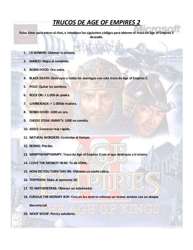 Trucos Age of Empires 2