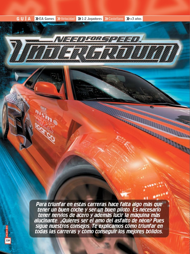 Guía Need For Speed: Underground