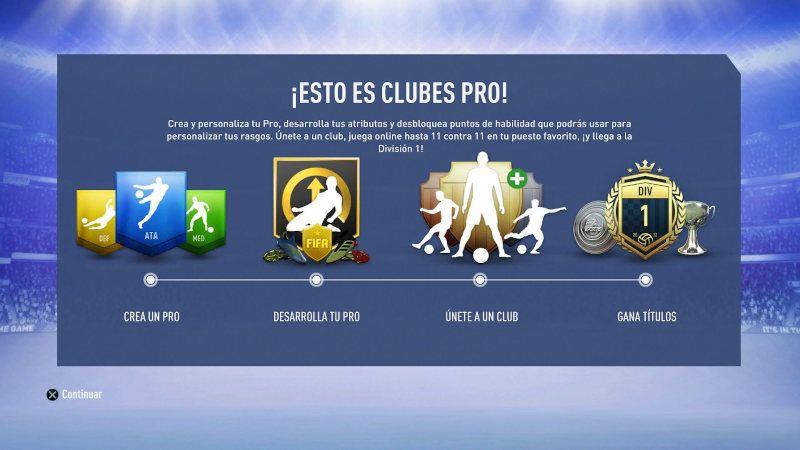 Guía para clubes Pro de FIFA