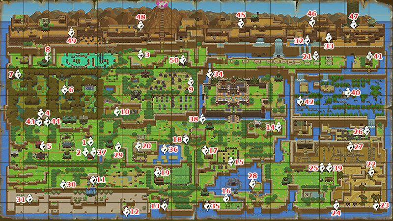 Guía de caracolas de Zelda: Link´s Awakening