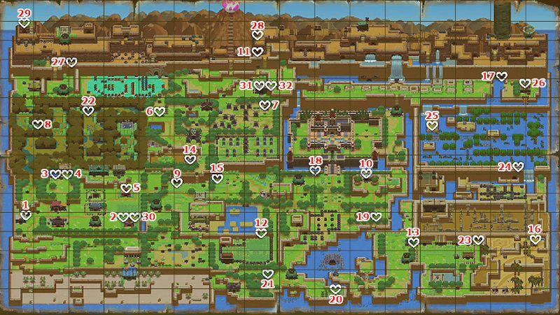 Guía de corazones de Zelda: Link´s Awakening